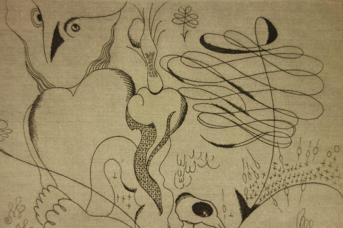 Jacques Maret Surrealist Composition Etching - 3