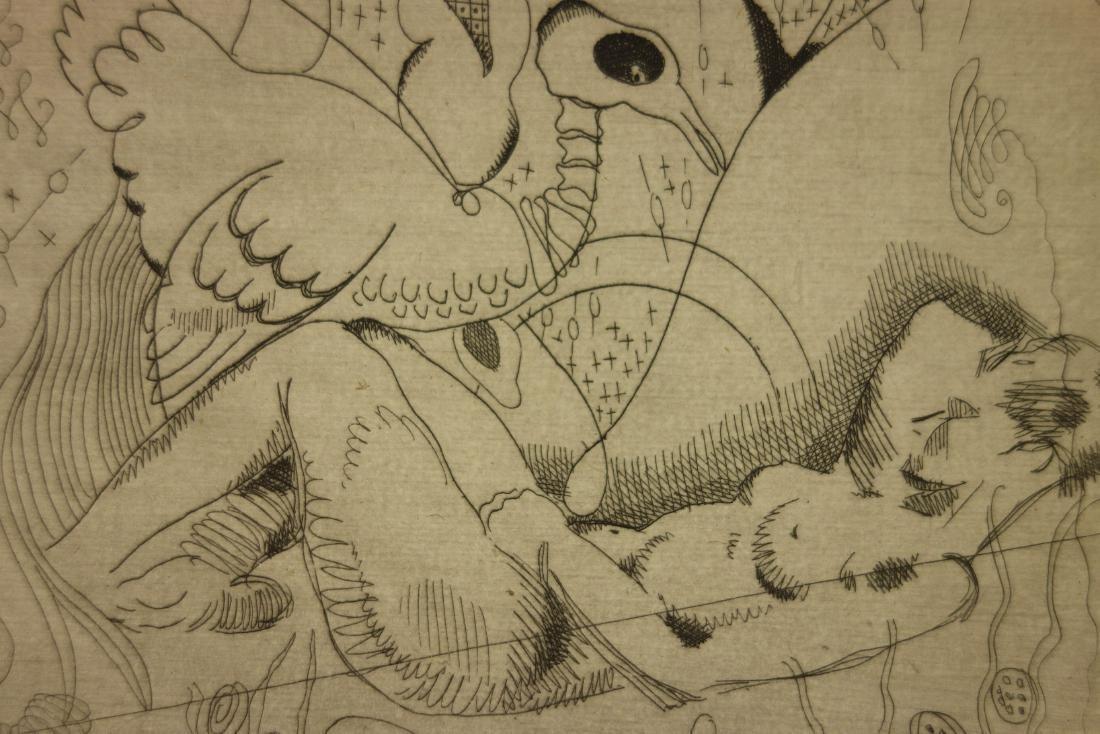 Jacques Maret Surrealist Composition Etching - 4
