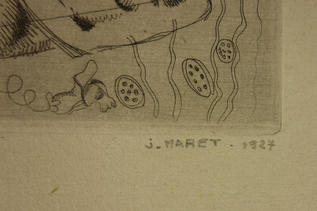 Jacques Maret Surrealist Composition Etching - 5