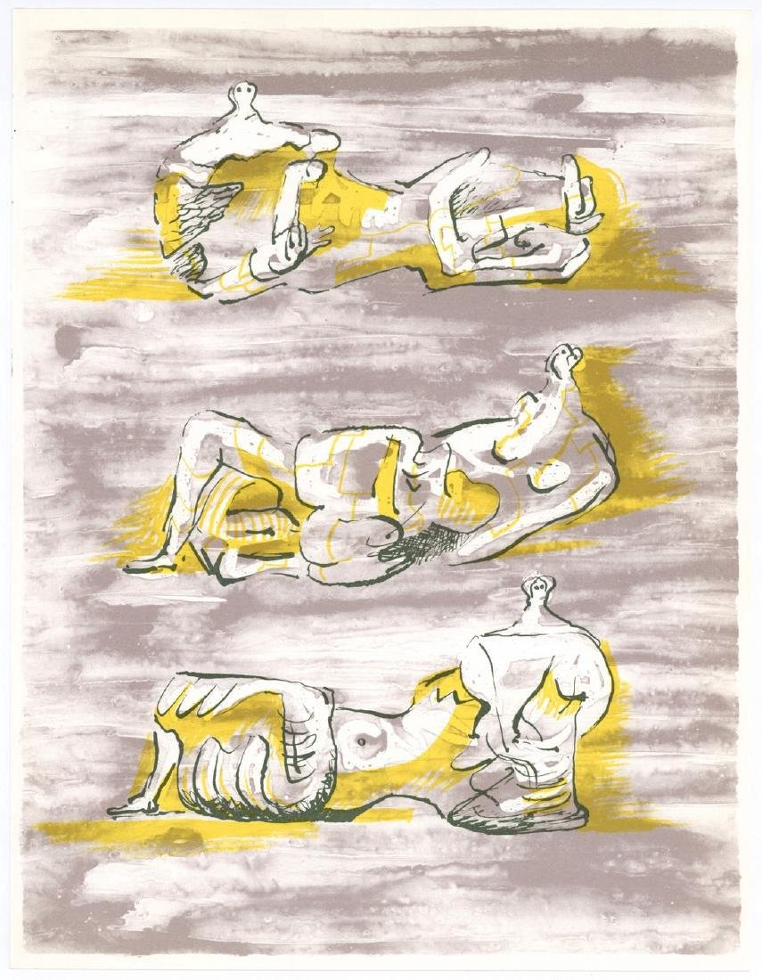 Henry Moore Three Reclining Figures Lithograph