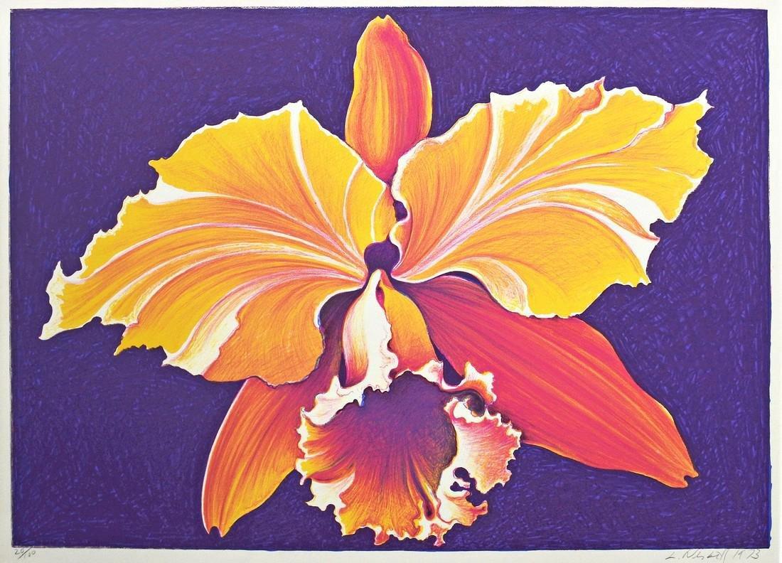 Lowell Nesbitt Orchid Lithograph