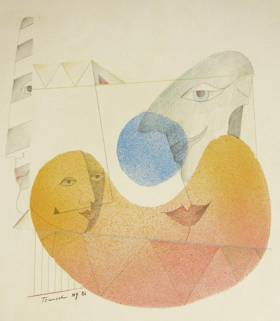 Gunther Temech Untitled Watercolor & Pencil