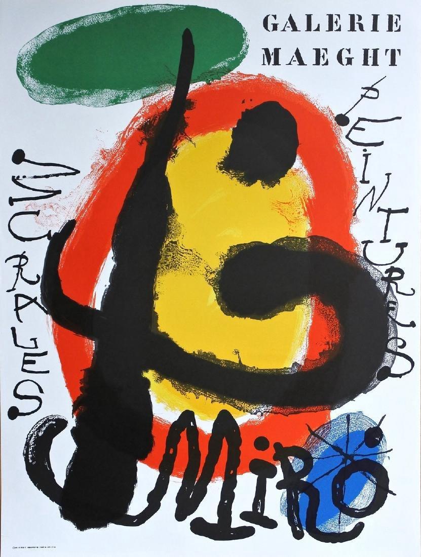 Joan Mirò Peintures Murales Lithographic Poster