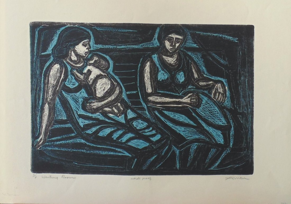 Irving Amen Waiting Room Woodcut