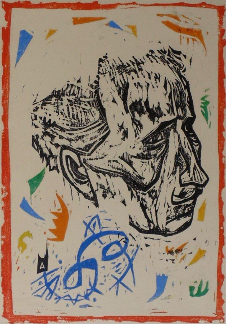 Irving Amen Toscanini Woodcut