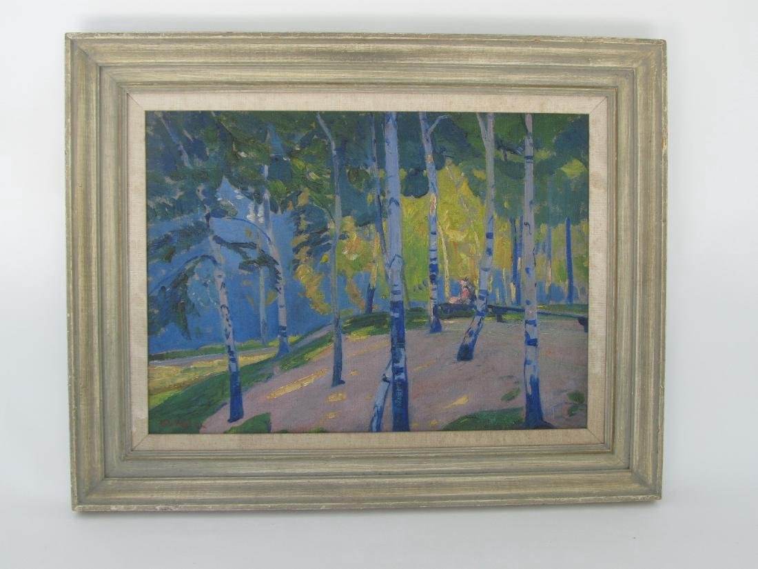 Henry George Keller Landscape Oil on Canvas