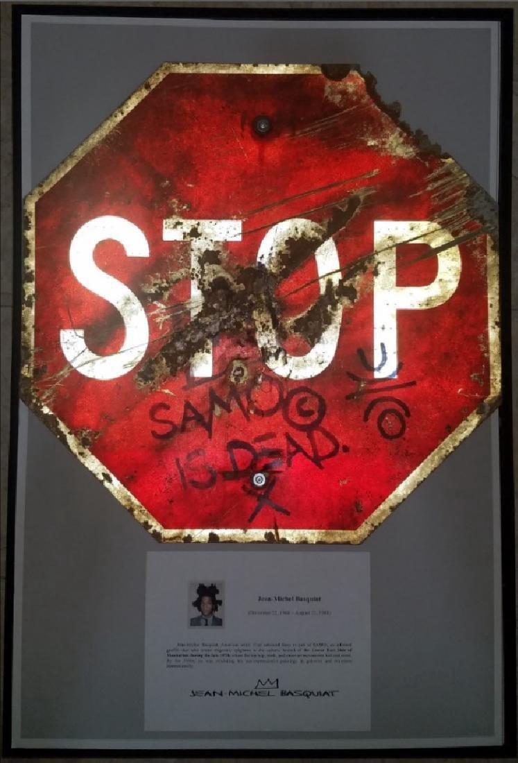 """Jean-Michel Basquiat """"SAMO IS DEAD"""" Traffic Sign Stop - 10"""