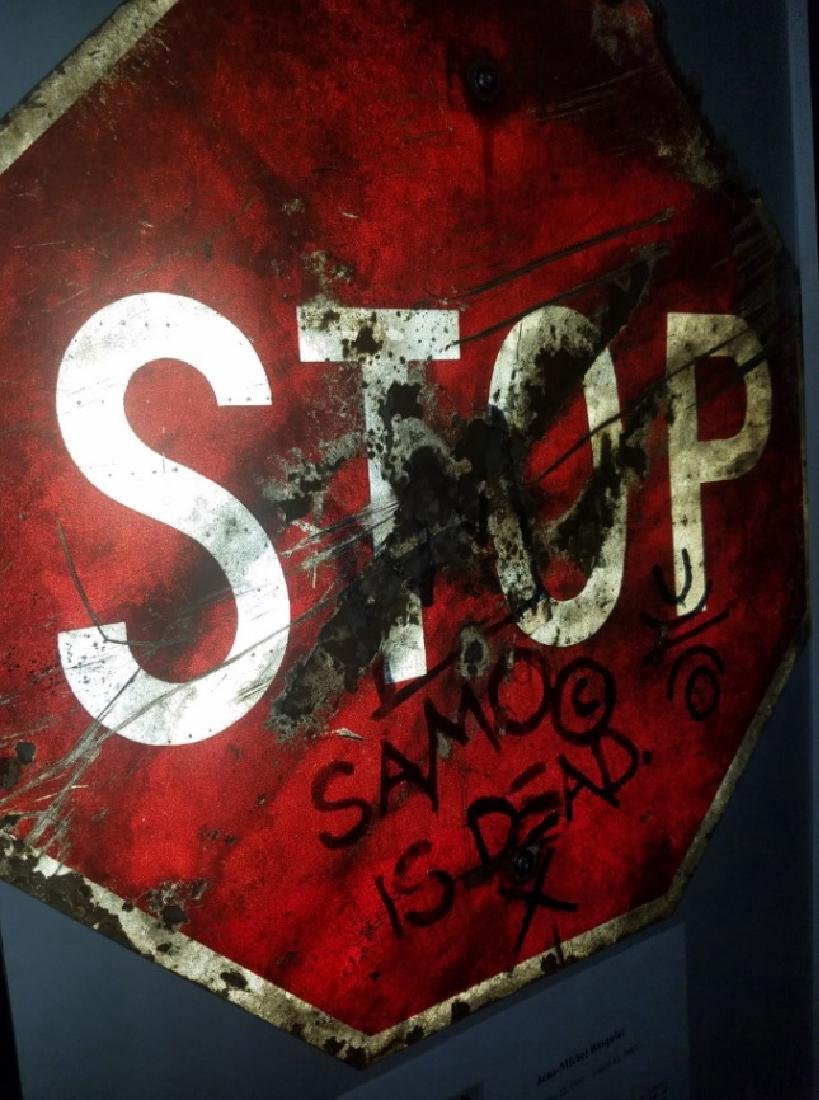 "Jean-Michel Basquiat ""SAMO IS DEAD"" Traffic Sign Stop - 3"