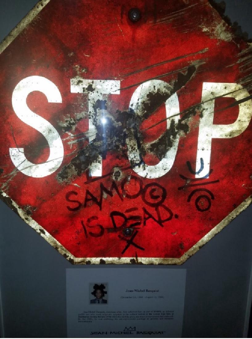 """Jean-Michel Basquiat """"SAMO IS DEAD"""" Traffic Sign Stop - 4"""