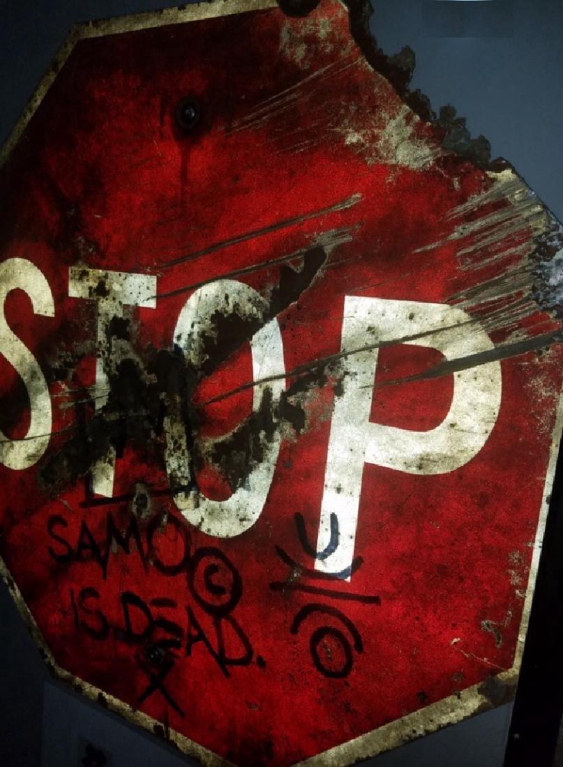 """Jean-Michel Basquiat """"SAMO IS DEAD"""" Traffic Sign Stop - 5"""