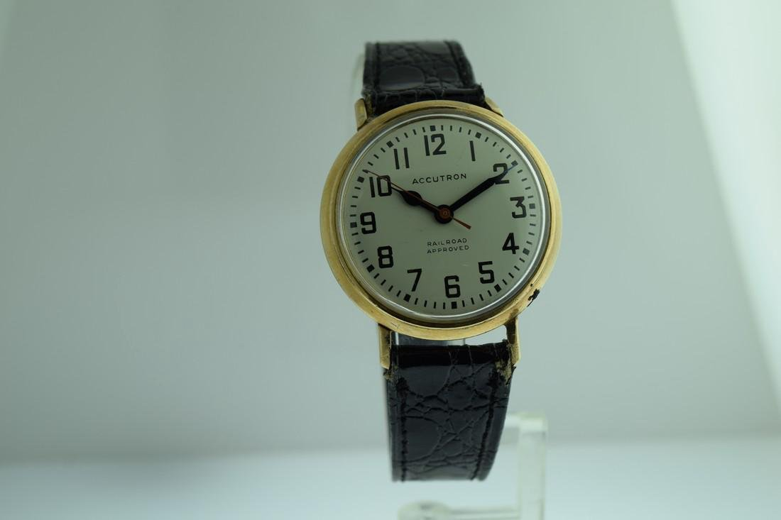 Vintage Accutron Railroad Dial Watch, 1969