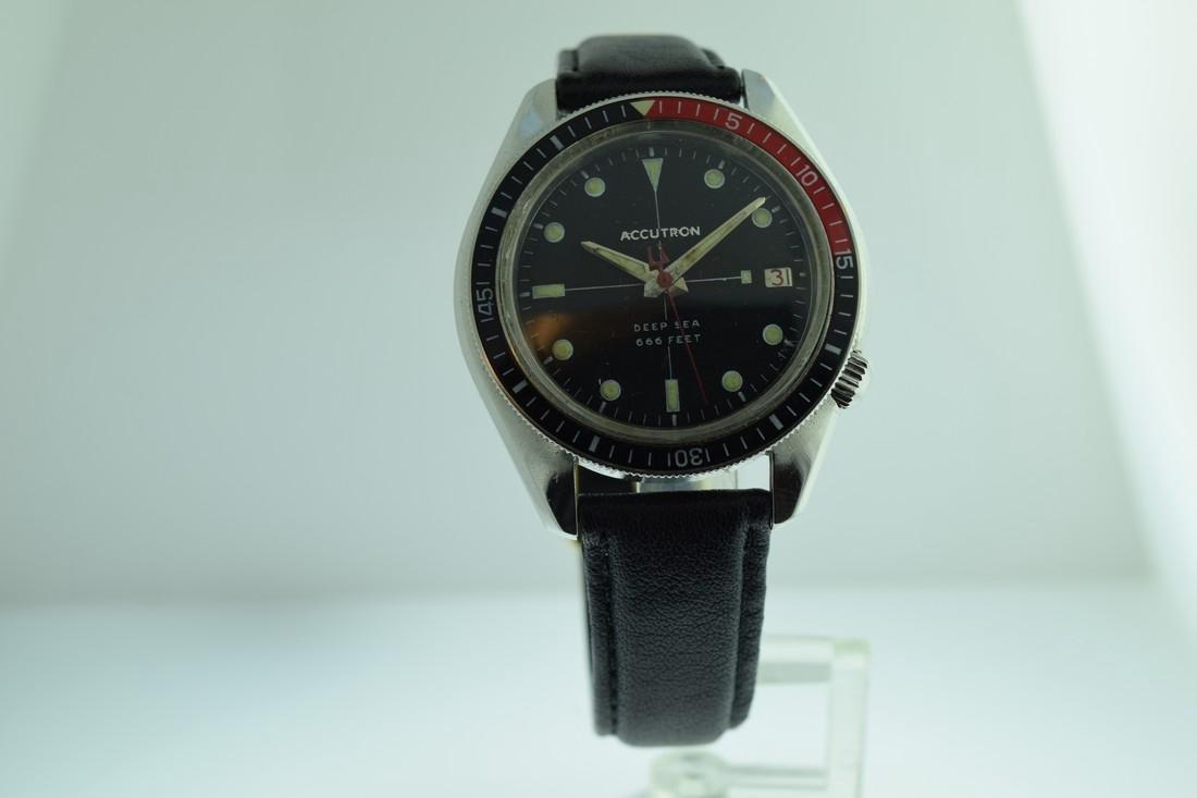 Vintage Accutron Deep Sea Baker Light Bezel Watch, 1969