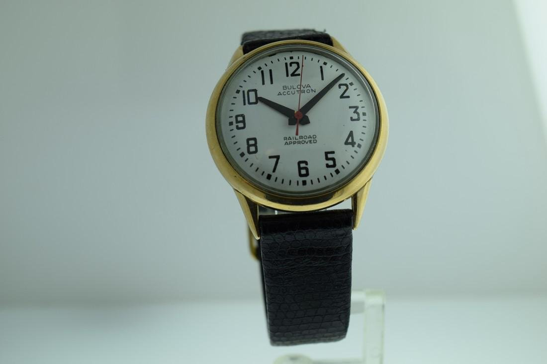 Vintage Bulova Accutron Railroad Dial Watch, 1965