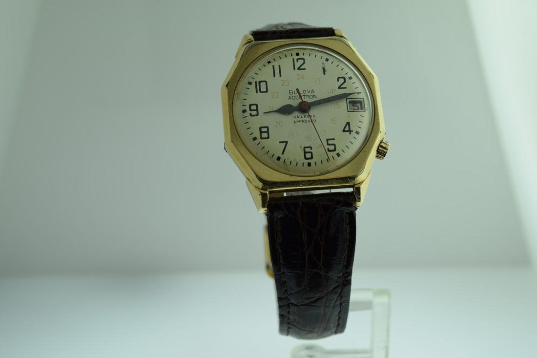 Vintage Bulova Accutron Railroad 24 Hr Dial Watch, 1969
