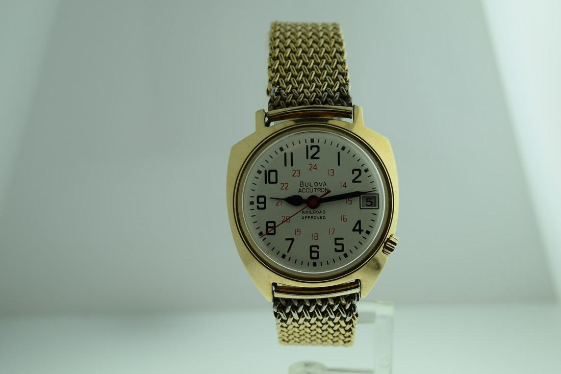 Vintage Bulova Accutron 14K Solid Gold Watch, 1967