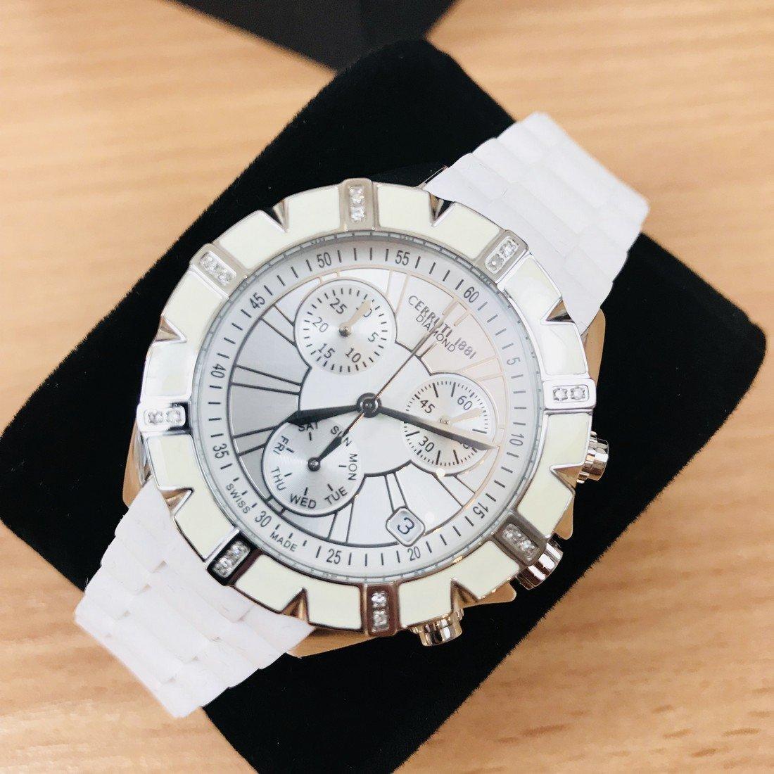 Cerruti – Ladies Swiss Luxury Watch with Swarovski