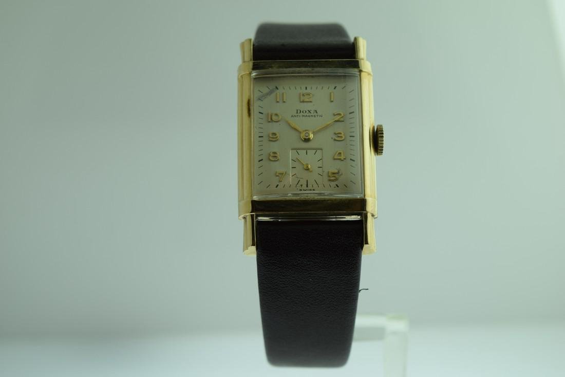 Vintage Doxa Manaul Gold Filled Watch, 1940s