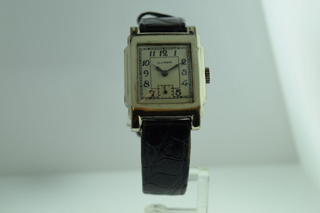 Vintage Illinois White Gold Filled Watch, 1920s