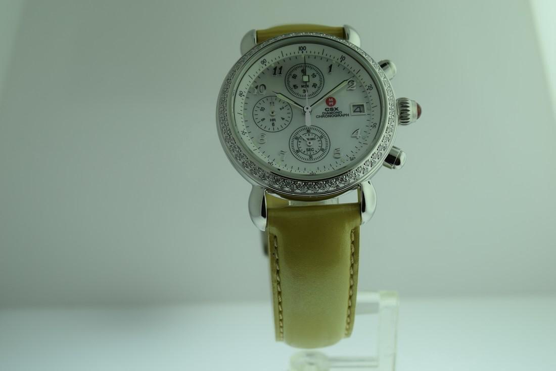Michele Diamond Bezel Chronograph Watch