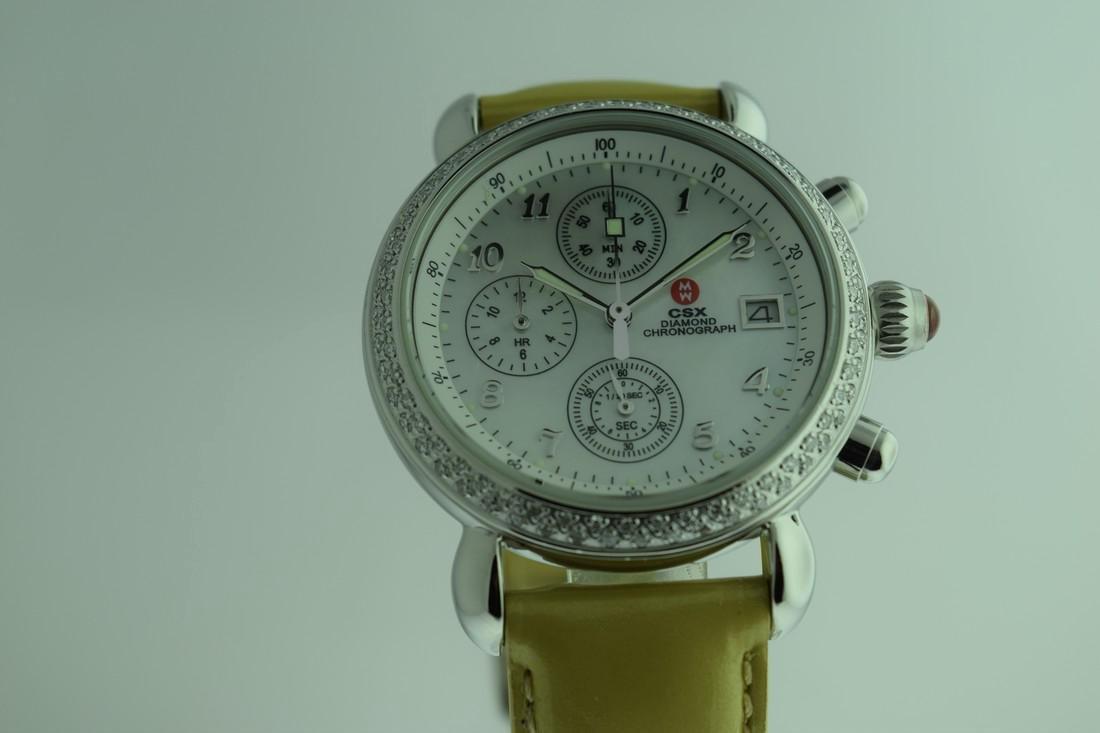 Michele Diamond Bezel Chronograph Watch - 2