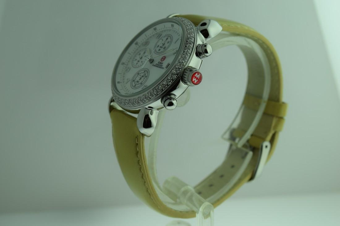 Michele Diamond Bezel Chronograph Watch - 3