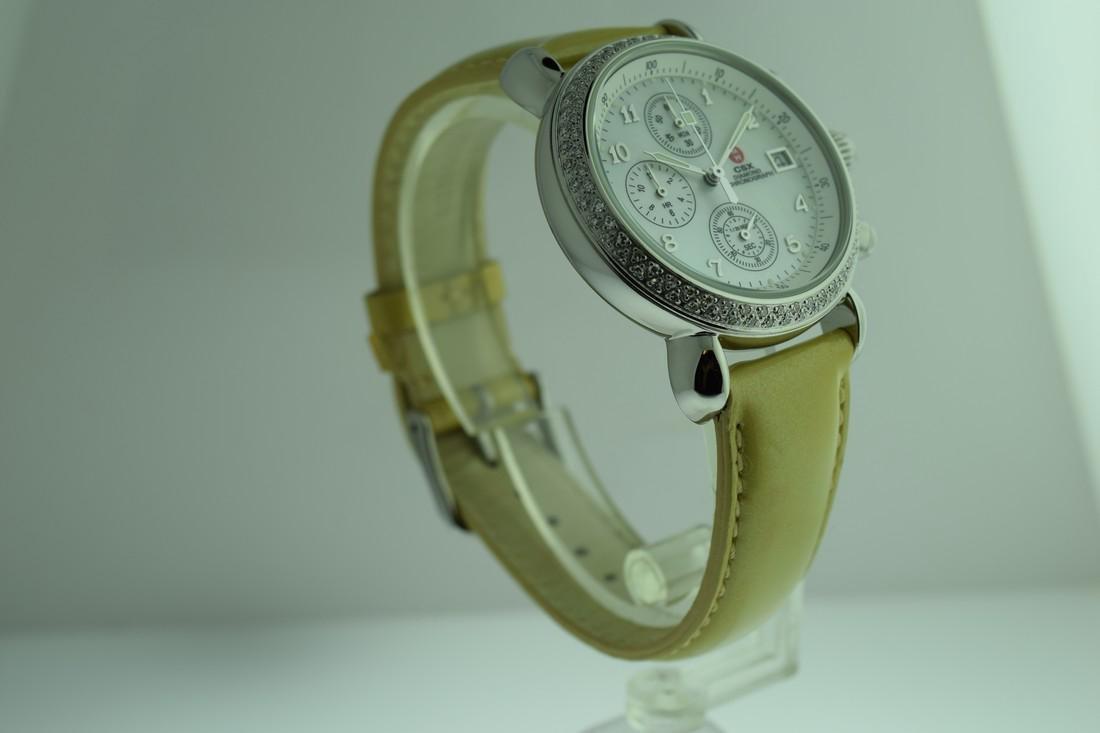 Michele Diamond Bezel Chronograph Watch - 4