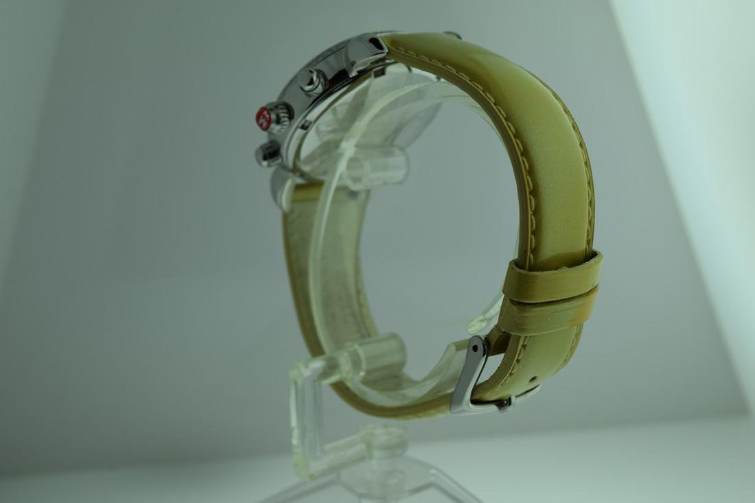 Michele Diamond Bezel Chronograph Watch - 5