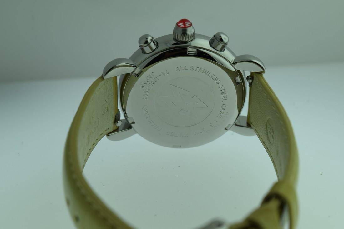 Michele Diamond Bezel Chronograph Watch - 7