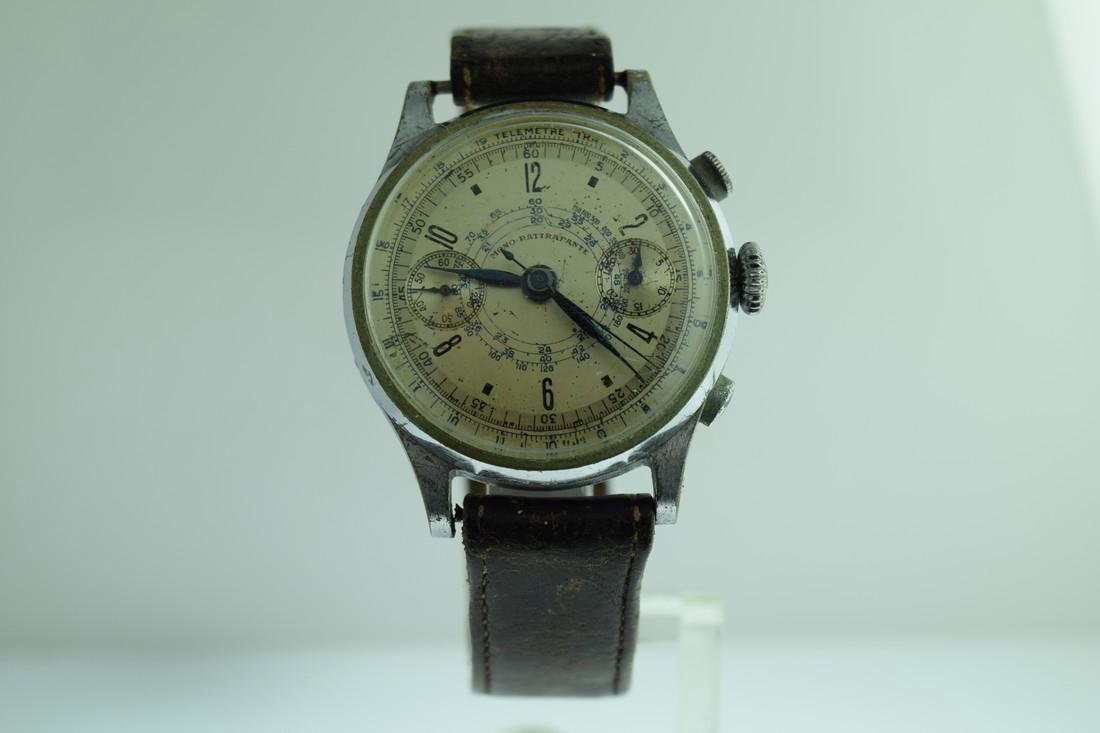Mono-Rattrapante Two Register Chronograph Watch, 1950s