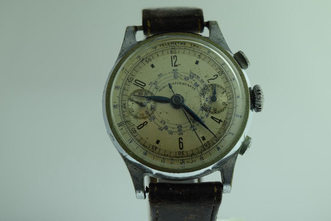 Mono-Rattrapante Two Register Chronograph Watch, 1950s - 2