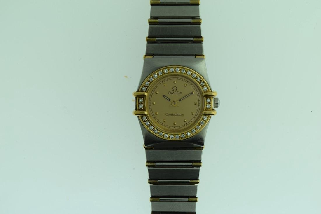 Ladies Omega Two Tone Diamond Constellation Watch