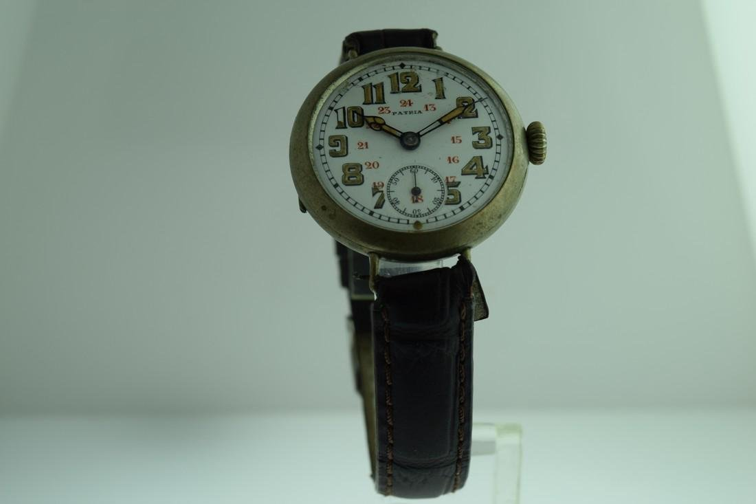 Vintage Patria Early WWI Porcelain Dial Watch, 1920s