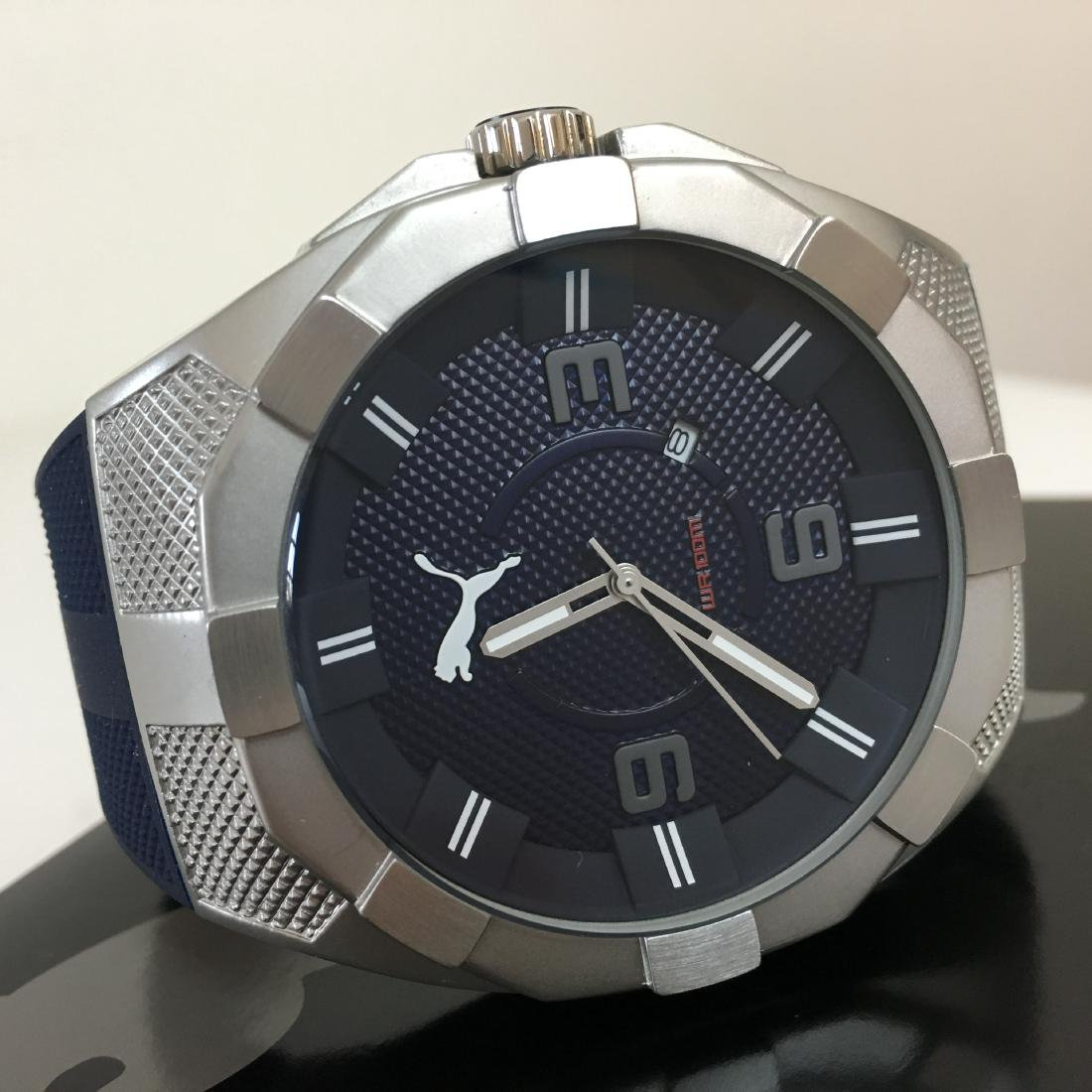 PUMA - Iconic Blue Silicone Display Watch