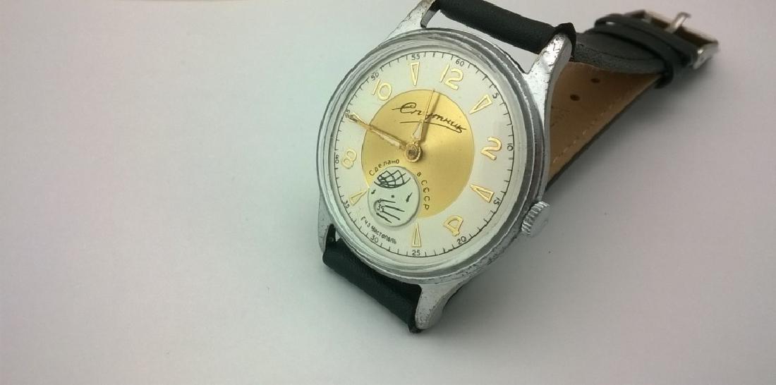 SPUTNIK Russian USSR men's watch. 1960s - 3