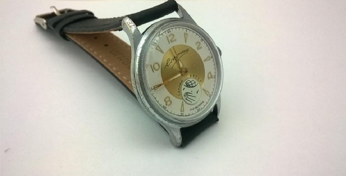 SPUTNIK Russian USSR men's watch. 1960s - 4