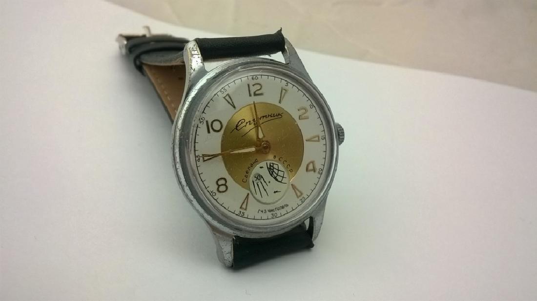 SPUTNIK Russian USSR men's watch. 1960s - 5