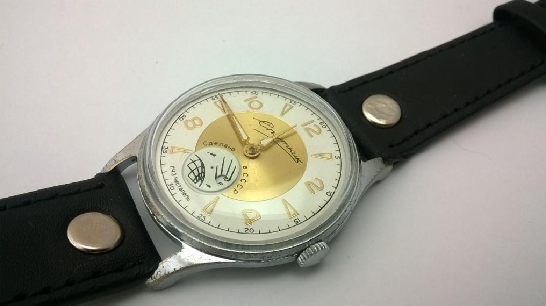 SPUTNIK Russian USSR men's watch. 1960s - 7