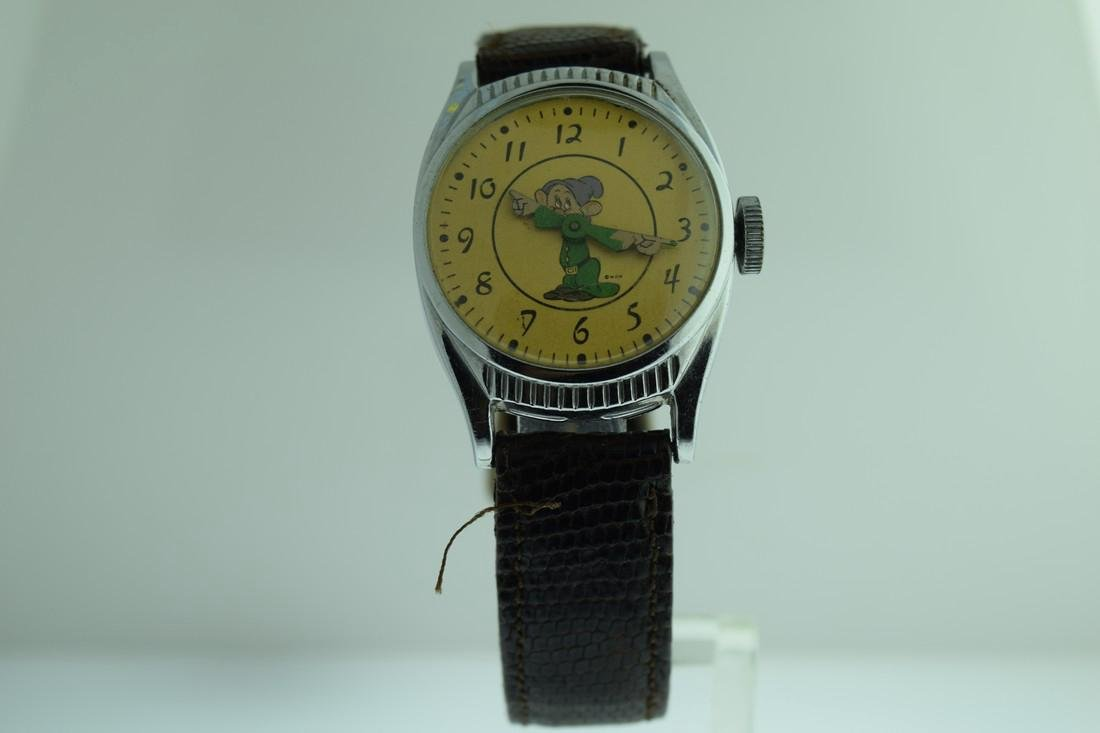 "Vintage US Time Character ""Dopey"" 7 Dwarves Watch 1940s"