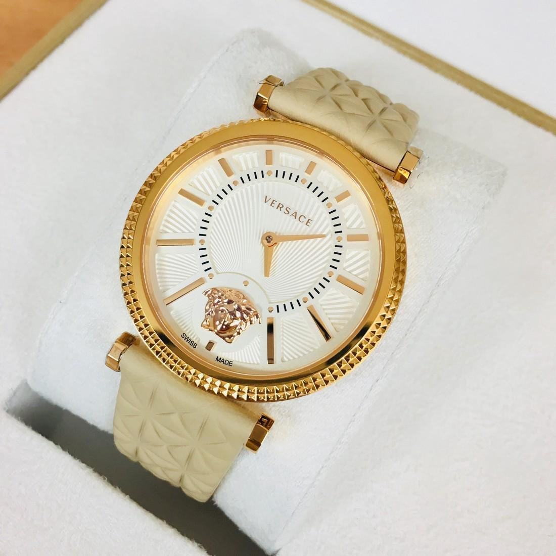 Versace V-HELIX Gold Plated Swiss Made Ladies Watch