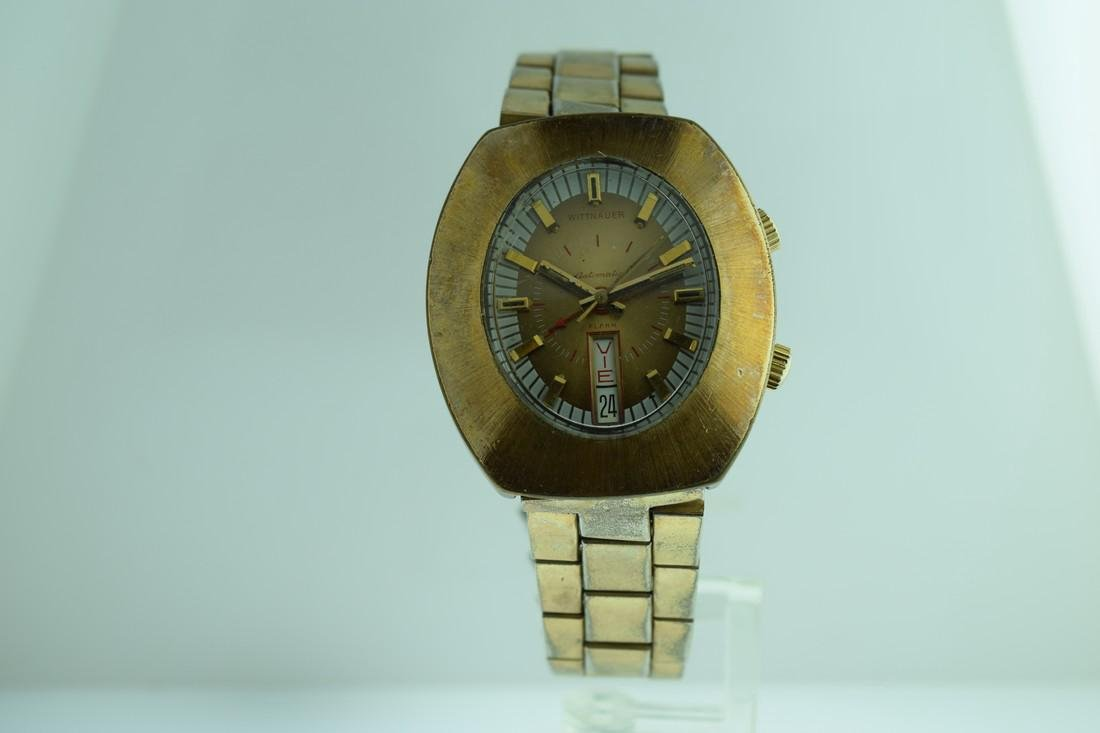 Vintage Wittnauer Alarm Day/Date Watch, 1970s