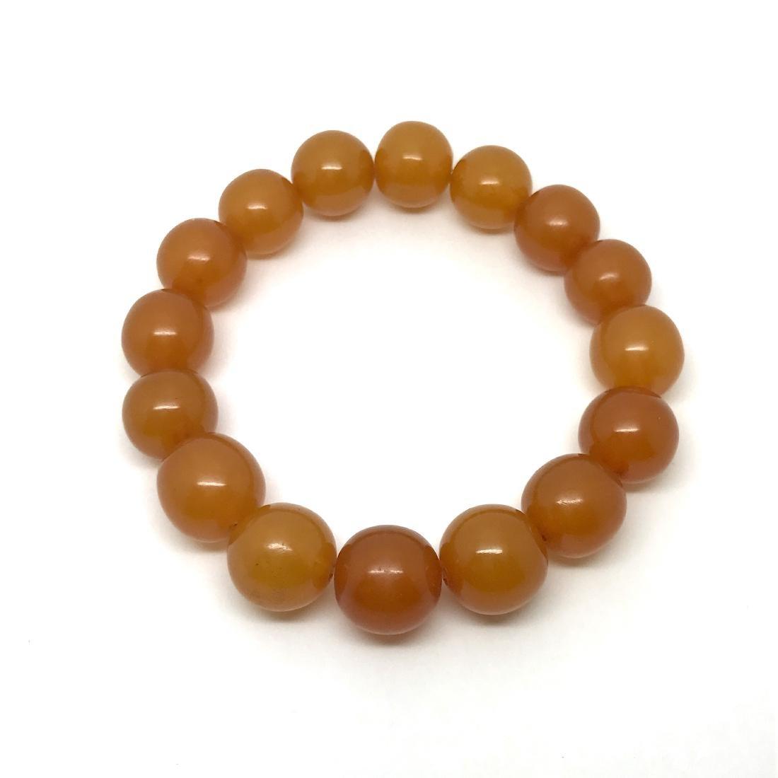 Antique Baltic amber beads bracelet 21.5 gr - 2