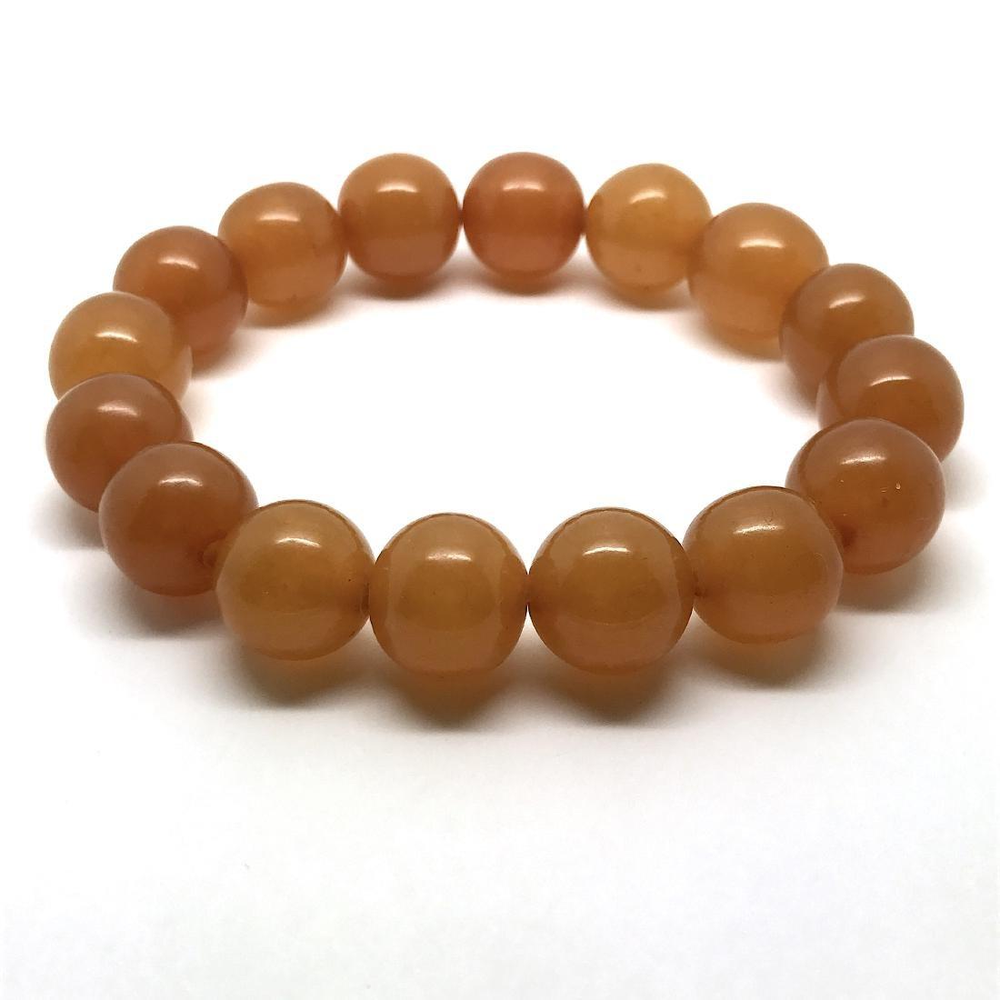 Antique Baltic amber beads bracelet 21.5 gr - 3
