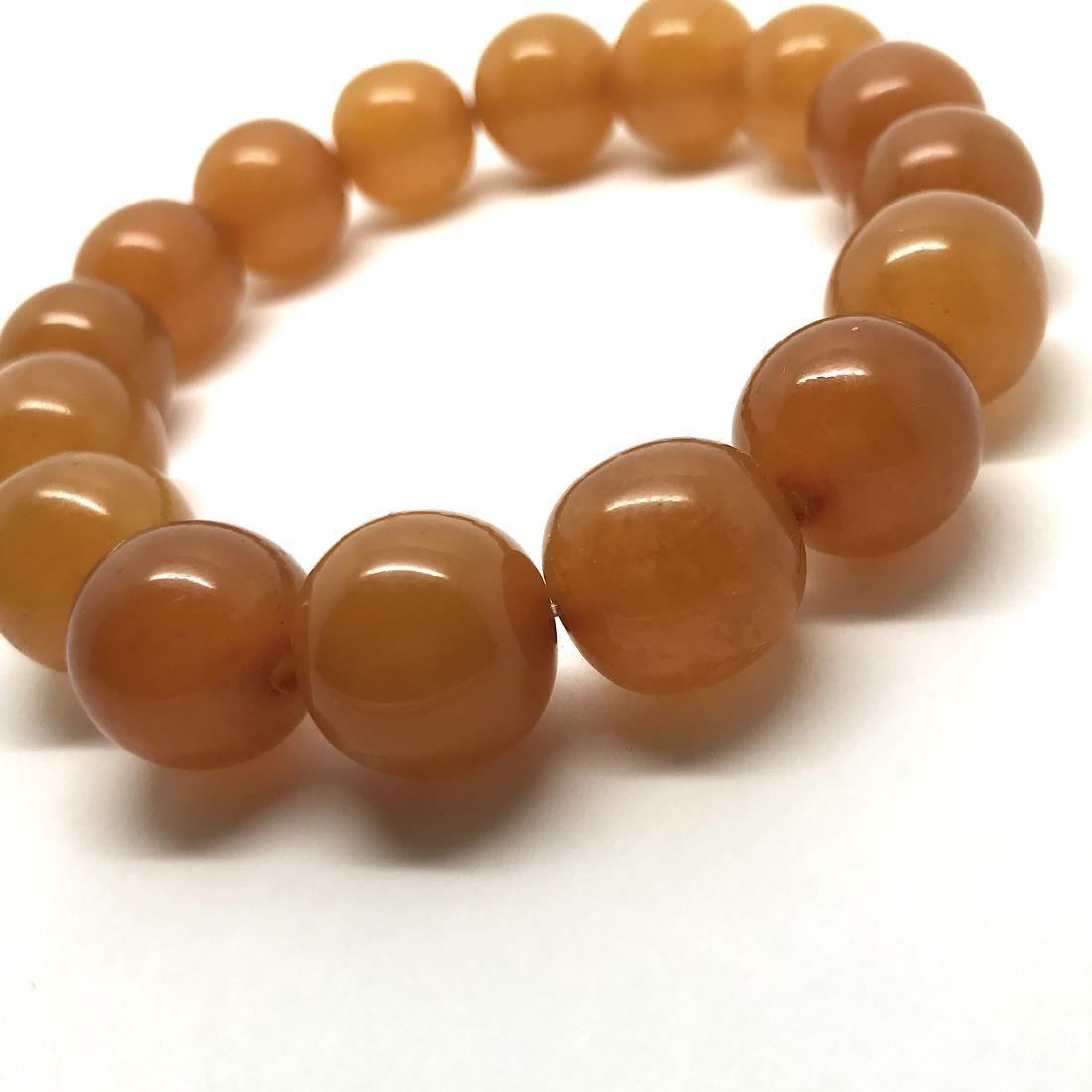 Antique Baltic amber beads bracelet 21.5 gr - 4