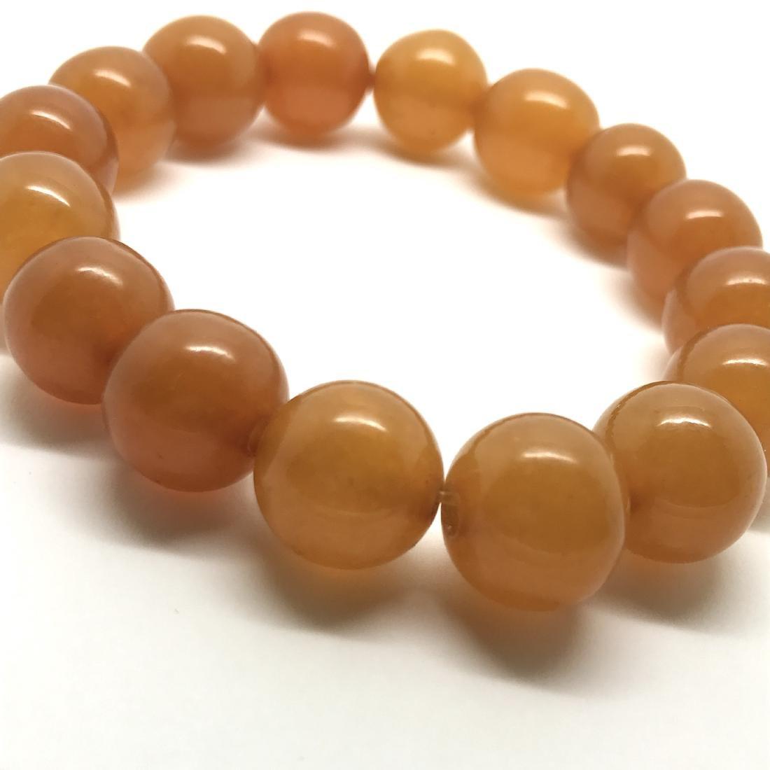 Antique Baltic amber beads bracelet 21.5 gr - 5