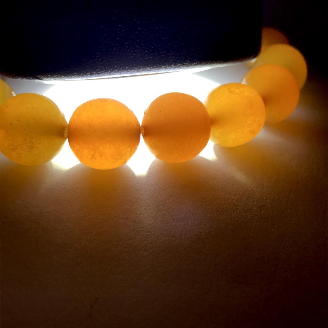 Antique Baltic amber beads bracelet 21.5 gr - 7