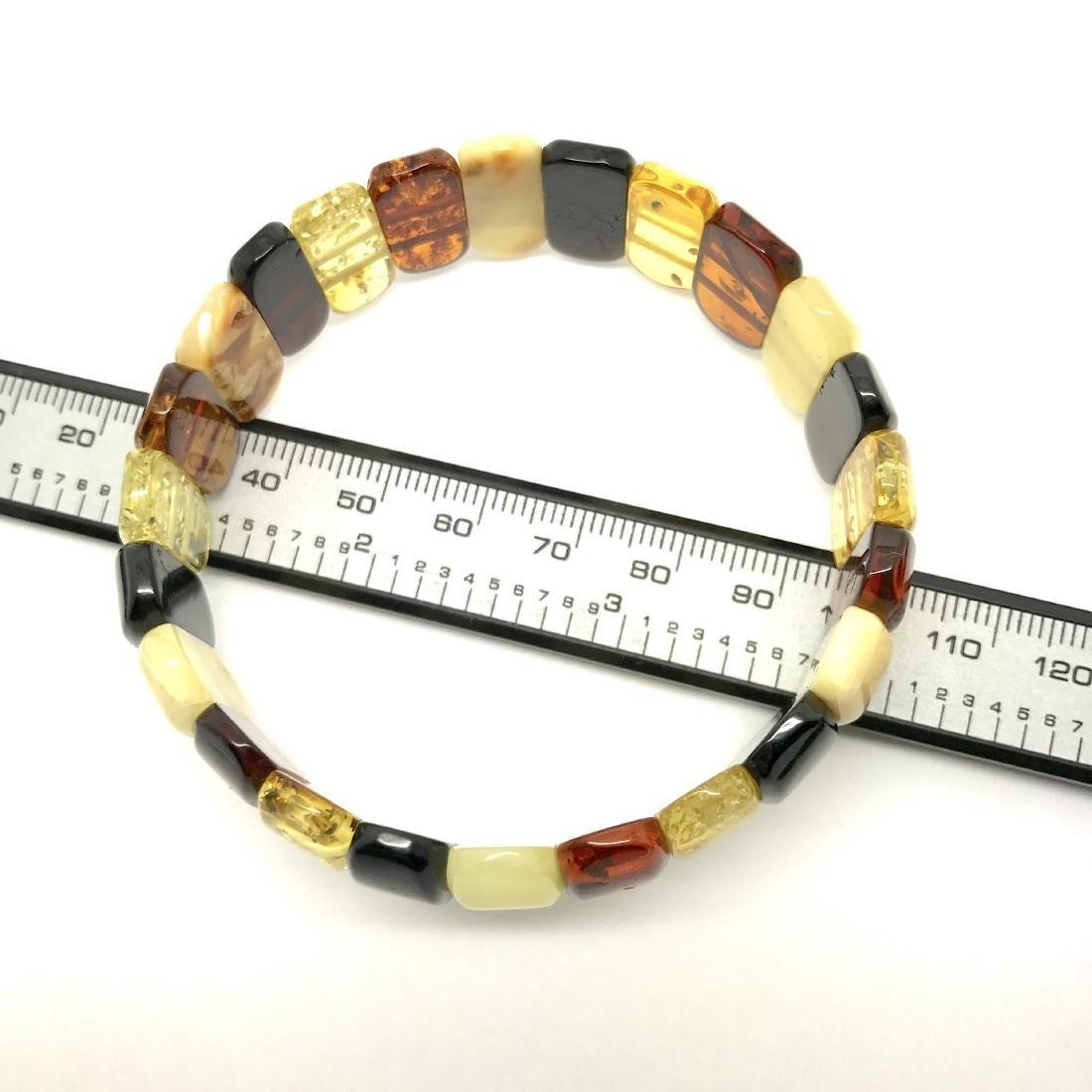 Vintage cut Baltic amber cabochons bracelet 15.1 gr - 6