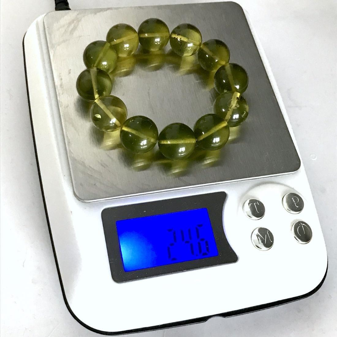 Cut young amber beads bracelet 24.6 gr - 7