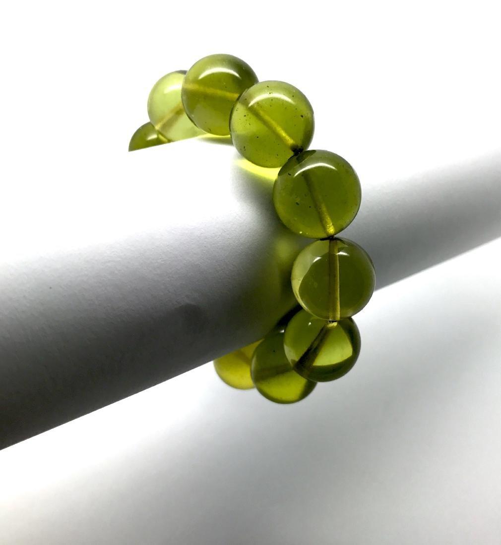 Cut young amber beads bracelet 24.6 gr - 9