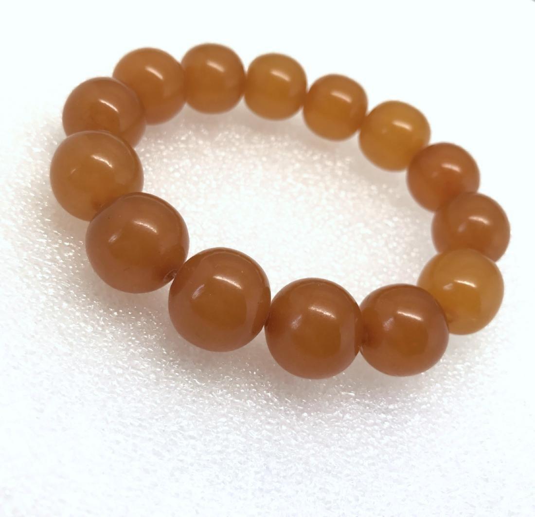 Art deco Baltic Amber bracelet in opaque butterscotch