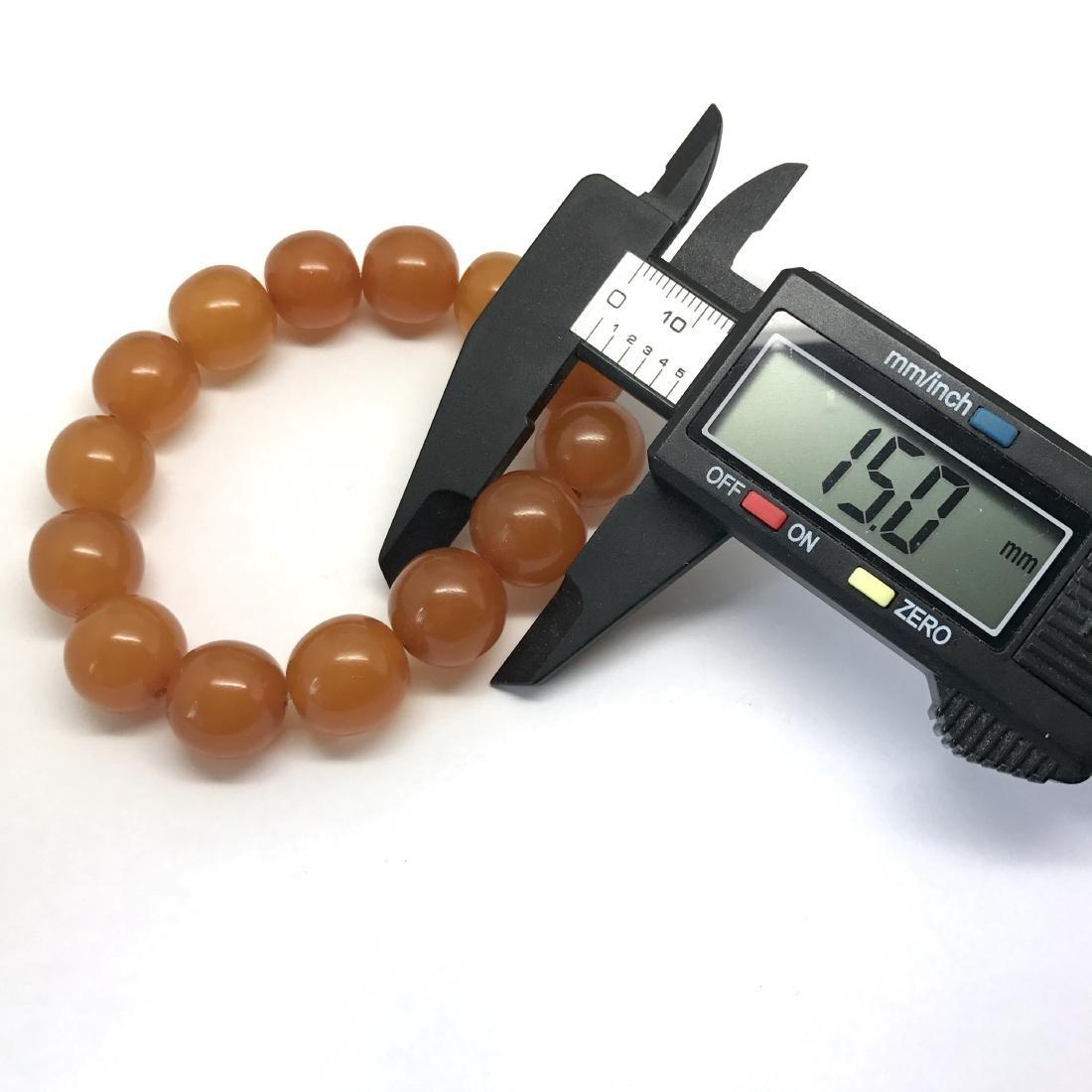 Art deco Baltic Amber bracelet in opaque butterscotch - 7